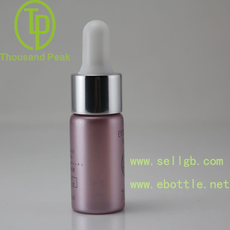 New design 10ml colored aluminum perfume bottle empty glass dropper bottle with childproof for sale