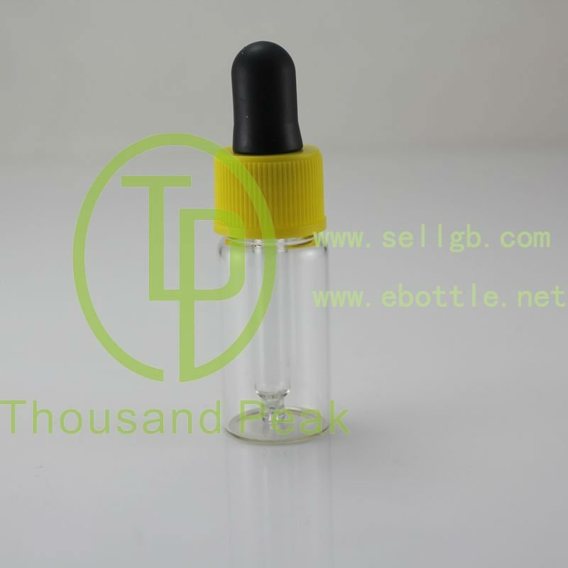 TP-2-11-1 5ml clear essential oil dropper glass bottle