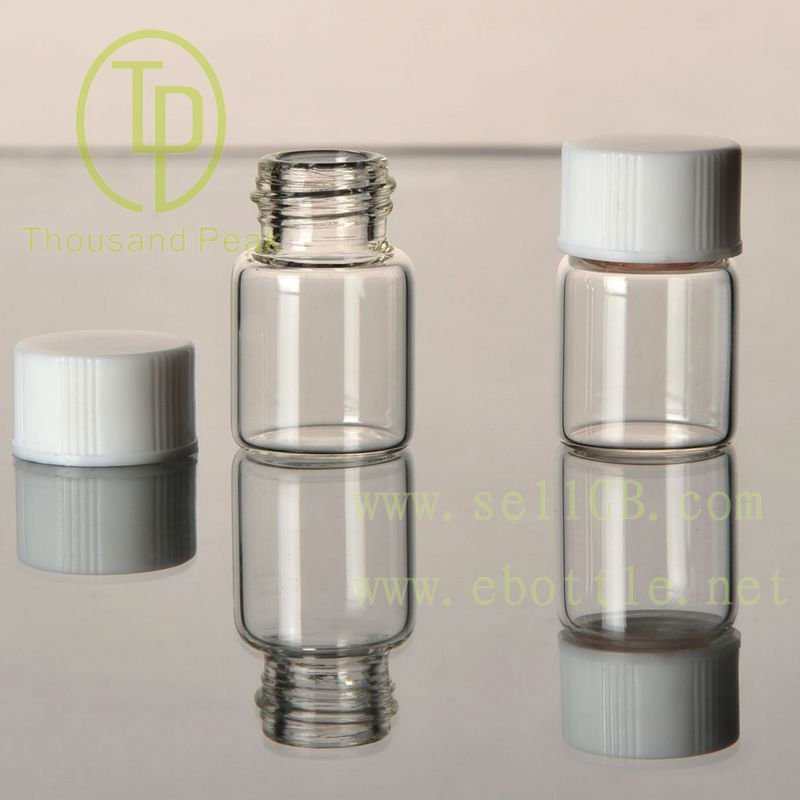 TP-1-12 40ml Clear glass vials with black cap