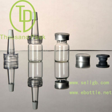 TP-2-03 5ml clear Bayonet bottle with butyl rubber stopper open aluminum alloy group and cover and a trumpet head